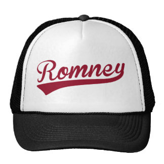 Mitt Romney Swoosh Logo Red Mesh Hat