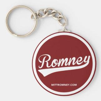 Mitt Romney Swoosh Logo (Red) Keychain