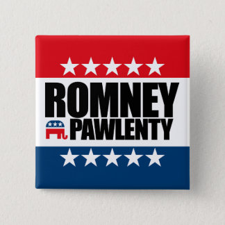 Mitt Romney Tim Pawlenty 2012 Button