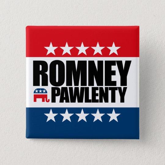 Mitt Romney Tim Pawlenty 2012 Button