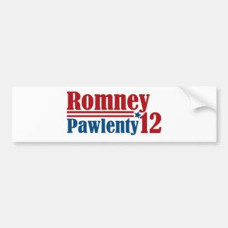 Mitt Romney Tim Pawlenty 2012 Etiqueta De Parachoque