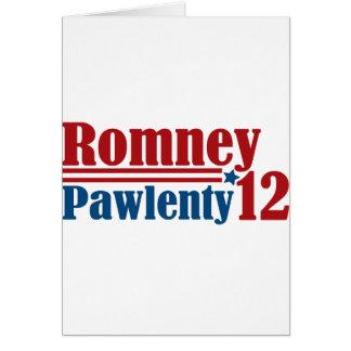 Mitt Romney Tim Pawlenty 2012 Card