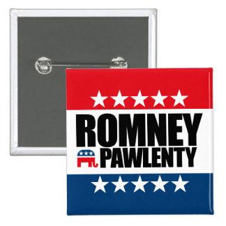 Mitt Romney Tim Pawlenty 2012 Pin Cuadrado