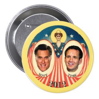 Mitt Romney & Tim Pawlenty 2012 Pinback Button