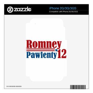 Mitt Romney Tim Pawlenty 2012 Decal For iPhone 3