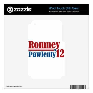 Mitt Romney Tim Pawlenty 2012 Skins For iPod Touch 4G
