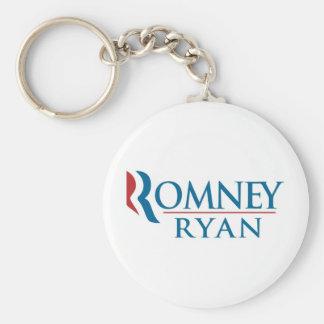 Mitt Romney y Paul Ryan 2012 Llavero Redondo Tipo Pin