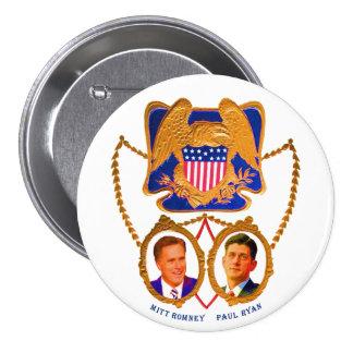 Mitt Romney y Paul Ryan para 2012 Pin Redondo 7 Cm