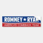Mitt Romney y Paul Ryan Pegatina De Parachoque