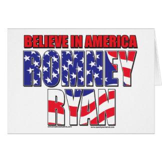 Mitt Romney y Paul Ryan Tarjeta De Felicitación