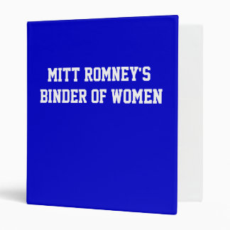 Mitt Romney's Binder of Women