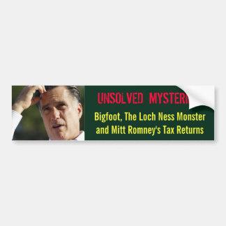 Mitt Romney's Taxes? Bumper Sticker