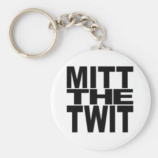 Mitt The Twit Basic Round Button Keychain