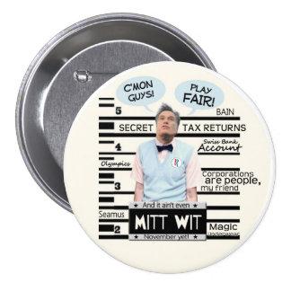Mitt Wit Pinback Button