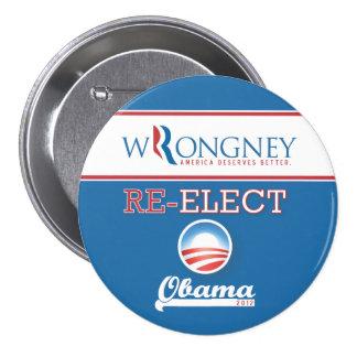 """Mitt """"Wrongney"""" - America Deserves Better Button"""