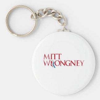 Mitt Wrongney.png Basic Round Button Keychain