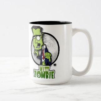 Mitt Zombie Attacks! Two-Tone Coffee Mug