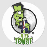 Mitt Zombie Round Sticker