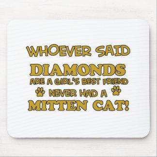 Mitten Cat designs Mouse Pad