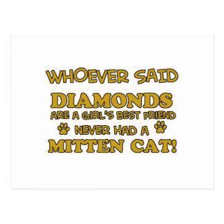 Mitten Cat designs Postcard