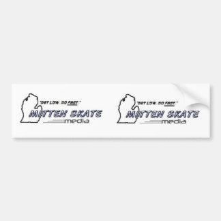 Mitten Skate Media Double Sticker Car Bumper Sticker