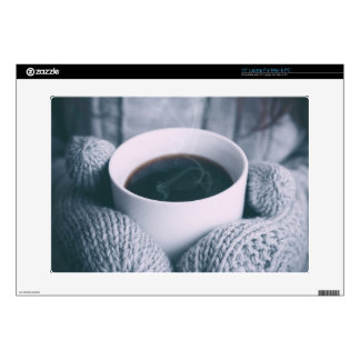 """Mittens and Coffee Cup 15"""" Laptop Decal"""