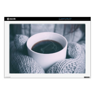 """Mittens and Coffee Cup 17"""" Laptop Decals"""