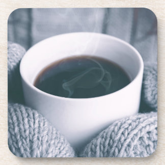 Mittens and Coffee Cup Drink Coaster
