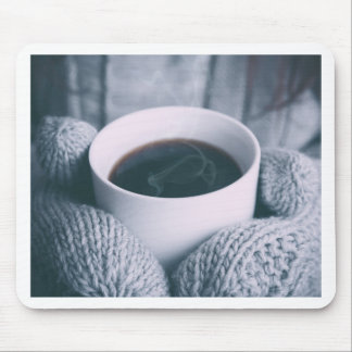 Mittens and Coffee Cup Mouse Pad