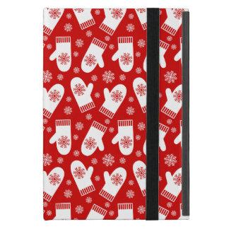 Mittens and Snowflakes Retro Christmas Ski Holiday iPad Mini Cover