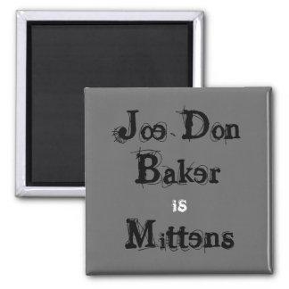 Mittens button fridge magnets