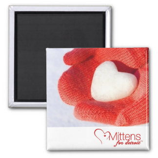 Mittens for Detroit 2 inch Square Magnet Magnets
