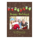 Mittens Holiday Card (brown) Personalized Invitation