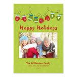 Mittens Holiday Card (green) Custom Invite
