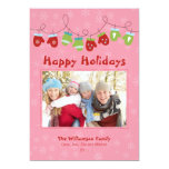 Mittens Holiday Card (pink) Announcement