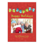 Mittens Holiday Card (red) Personalized Announcement