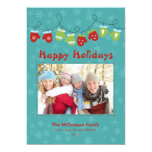 Mittens Holiday Card (teal) Invitation