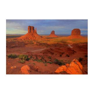 Mittens, Monument valley, AZ Acrylic Print