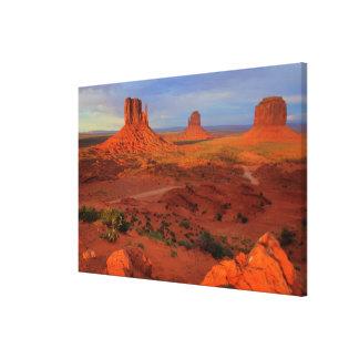 Mittens, Monument valley, AZ Canvas Print
