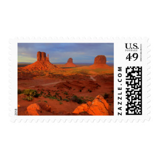 Mittens, Monument valley, AZ Postage