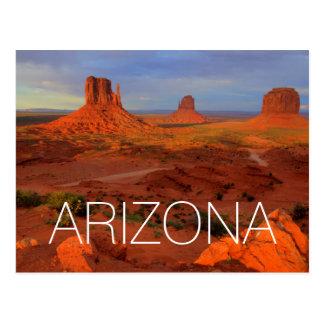 Mittens, Monument valley, AZ Postcard
