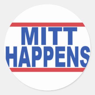 MittHappens Classic Round Sticker