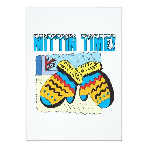 Mittin Time 5x7 Paper Invitation Card