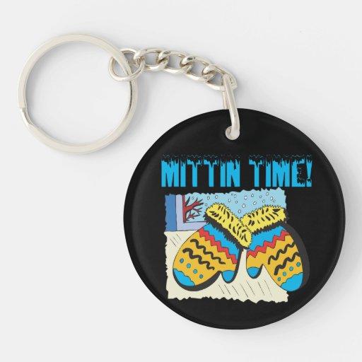 Mittin Time Single-Sided Round Acrylic Keychain