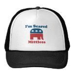 Mittless asustado gorras
