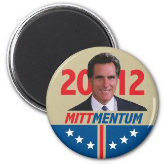 Mittmentum Mitt Romney 2012 2 Inch Round Magnet
