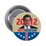 Mittmentum Mitt Romney 2012 Buttons