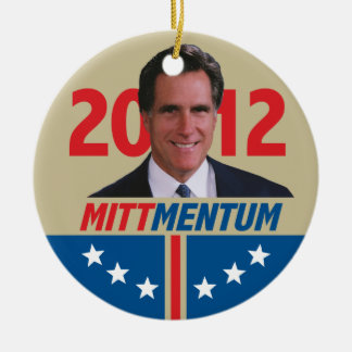 Mittmentum Mitt Romney 2012 Ceramic Ornament
