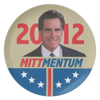 Mittmentum Mitt Romney 2012 Dinner Plate