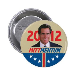 Mittmentum Mitt Romney 2012 Pinback Button